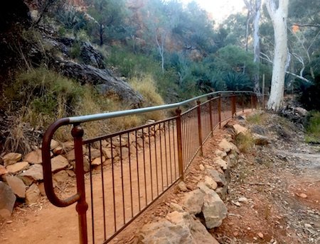 2468 Standley Chasm railing, rocks OK