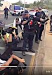 2482 Police & protestors SM