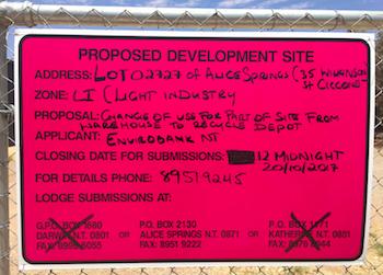 2491 council depot sign 1