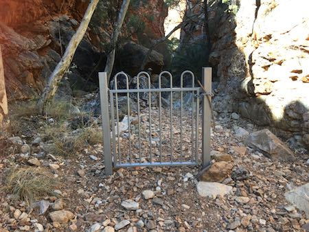 2494 Standley Chasm gate OK
