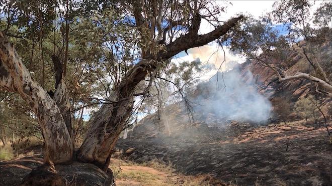 p2510 Fiona fire smoulder