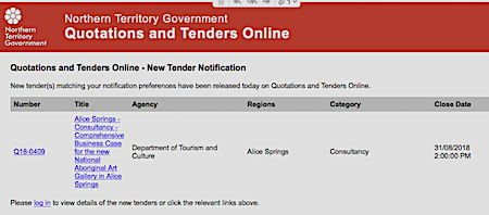 Nt government quotations and tenders online dating