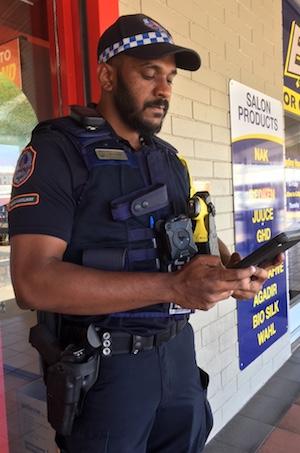 2581 Police Auxiliary Liquor Inspector Sam Joseph OK
