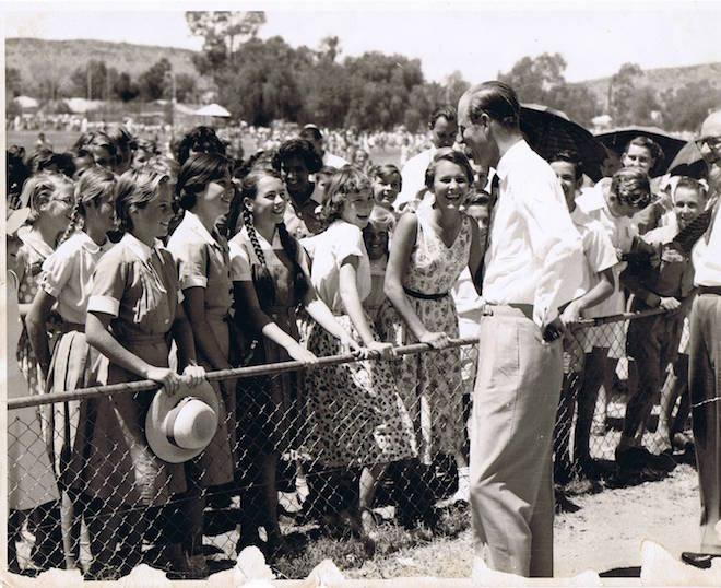 p2571 Prince Phillip at ANZAC Oval, November 17, 1956 copy
