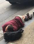 2601 man in gutter in Sydney SM