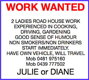 2610 work wanted