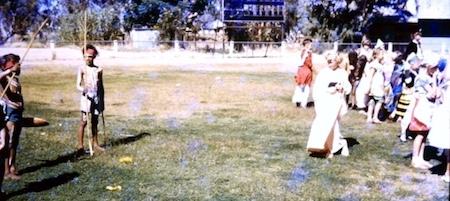 2611 Anzac Oval Children in theme costumes