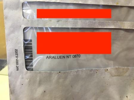 2615 found rubbish envelope 4 OK 2