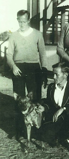 2638 Kennett Tragedy Father Smith, Vic Peace and Ditto the dog OK